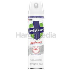 Family Guard Disinfectant Spray Fragrance Free 280ml