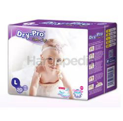 Dry-Pro Ultra Soft Baby Tapes Diapers L20