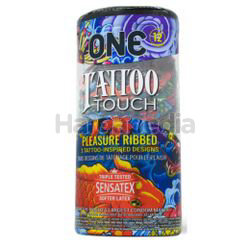 One Condoms Tattoo Touch Ribbed  12s