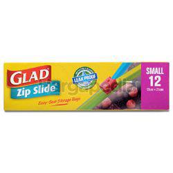 Glad Zip Slide Storage Bag Small 12s