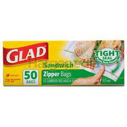 Glad Sandwich Zipper Bag 50s