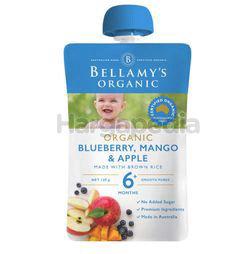 Bellamy's Organic Blueberry Mango & Apple 120gm
