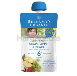 Bellamy's Organic Grape Apple & Peach 120gm