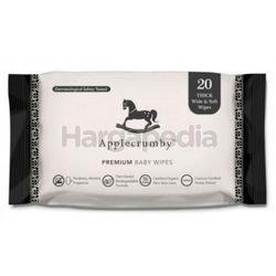 Applecrumby Extra Thick Premium Baby Wipes 20s