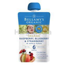 Bellamy's Organic Raspberry Blueberry & Strawberry in Apple Puree 120gm