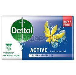 Dettol Bar Soap Active (3+1)x100gm