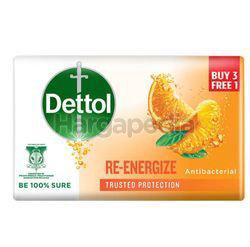 Dettol Bar Soap Re-Energize (3+1)x100gm