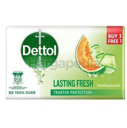Dettol Bar Soap Lasting Fresh (3+1)x100gm