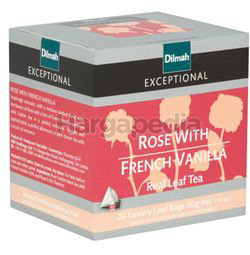Dilmah Exceptional Rose With French Vanilla Luxury Leaf 20s