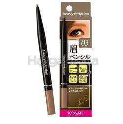 Kiss Me Heavy Rotation Eyebrow Pencil 03 Ash Brown 1s