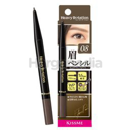 Kiss Me Heavy Rotation Eyebrow Pencil 08 Ash Gray 1s