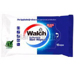 Walch Anti-Bacterial Wet Wipes Aloe 10s