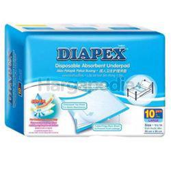 Diapex Disposable Absorbent Underpad L  60x90cm 10s