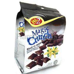 Win2 Magic Crunch Corn Snack With Black & White Vanilla Filling 70gm