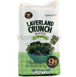 Manjun Laverland Crunch Seaweed Wasabi 9x4.5gm