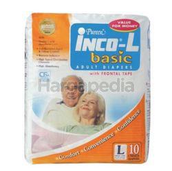 Pureen Inco Basic Adult Diaper L10