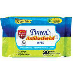 Pureen Baby Wipes Antibacterial 30s