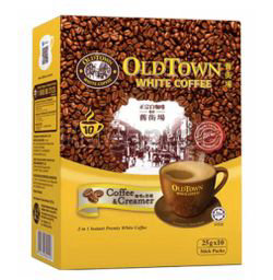 Old Town 2in1 White Coffee Coffee & Creamer 10x25gm