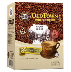 Old Town 3in1 White Coffee Cane Sugar 10x36gm