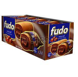 Fudo Chocolate Flavours Swiss Cake Roll 24x18gm