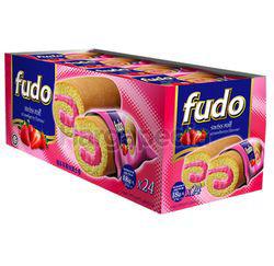 Fudo Strawberry Flavours Swiss Cake Roll 24x18gm
