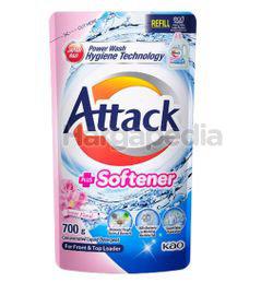 Attack Liquid Detergent Plus Softener Refill 700gm