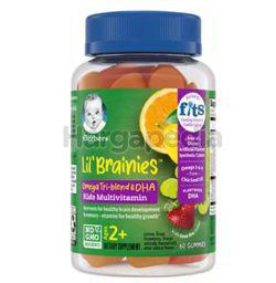 Gerber Lil' Brainies Omega Tri-Blend & DHA Kids Multivitamin Gummies 60s
