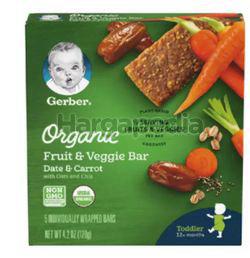 Gerber Organic Fruit & Veggie Date Carrot Bar With Oats and Chia 120gm