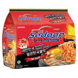 Mi Sedaap Korean Spicy Soup 5x77gm