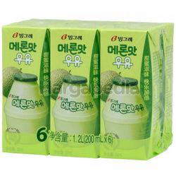 Binggrae Milk Melon 6x200ml