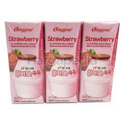 Binggrae Milk Strawberry 6x200ml