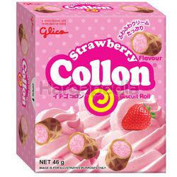 Glico Collon Biscuit Roll Strawberry 46gm