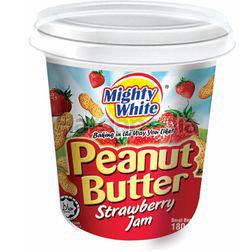 Mighty White Strawberry Peanut Jam 180gm