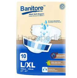 Banitore Adult Diapers L/XL 10s
