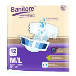 Banitore Adult Diapers M/L 12s