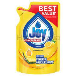 Joy Concentrated Dishwashing Liquid Refill Lemon 375ml