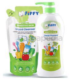 Fiffy Baby Bottle Wash Green Tea 750ml + 600ml