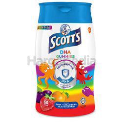 Scott's DHA Gummies Orange ,Strawberry & Blackcurrant 60s