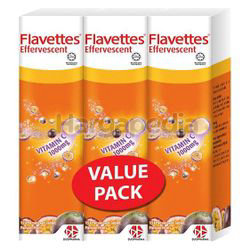 Flavettes Effervescent 1000mg Passion Fruits 3x15s