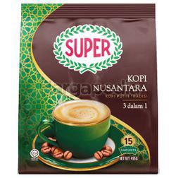 Super 3in1 White Coffee Nusantara 15x33gm