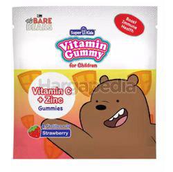 Super Kids Vita Gummy Vitamin C + Zinc Strawberry Flavour 4s