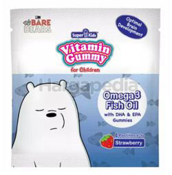 Super Kids Vitamin Gummy Omega 3 with DHA&EPA Strawberry flavour 4s