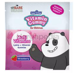 Super Kids Vita Gummy Lysine + Minerals + Multi Vitamins Strawberry Flavour 4s