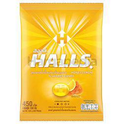 Halls Candy Bag Honey Lemon 450s 1.26kg