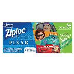 Ziploc Pixar Sandwich Bag 66s