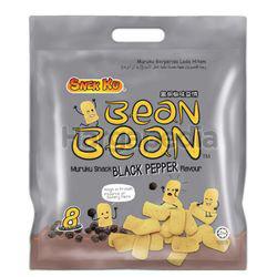 Snek Ku Bean Bean Muruku Snack Black Pepper Flavour 8x14gm