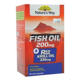 Nature's Way Fish Oil 200mg + Red Kill Oil 335mg 90s