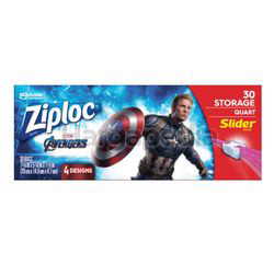 Ziploc Disney Avengers Quart Storage Slider 30s