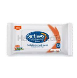 Activex Anti-Bacterial Wet Tissue 3x15s