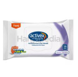 Activex Wet Wipes Sensitive with Lid 56s